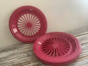 7 Packerware Paper Plate Holders Plastic Pink 10 1/2 Camping Clamping Outdoor