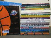 Lot Of 25 New Orleans/utah Jazz Media Guides From 1975-1999 Excellent/near Mint