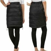 32 Degrees Weatherproof Ultra Light Down Quilted Snow Skirt Black Sz.l