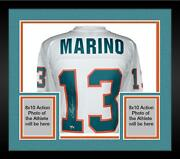 Frmd Dan Marino Miami Dolphins Signed White Replica Mitchell And Ness Jersey