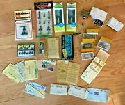 Vintage Ho Model Train Accessories Signals, People, Switches, Decals, Gage + D9