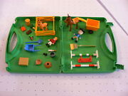 Playmobil Pony Farm Playset With Carry Case - Retired Vintage