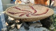 Native Americanpolychrome Coiled Trayc. Late 18th Early 19th Centurymint