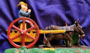 🔥vintage °capron° Bad Accident Iron Mechanical Bank 👍good Working Condition👍