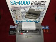 Brother Sx-4000 Electronic Lcd Display Typewriter With Dictionary New Open Box