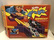 Vintage Super Rare 1983 Hot Wheels Crack-ups Wipeout Track Set With Cars