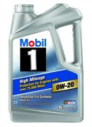 Mobil 1 122536-1 High Mileage Engine Oil 0w20 5 Quart Jug Sold Individually