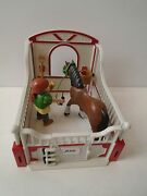 Playmobil Shire Horse W/ Groomer Rider And Stable - 5108 Ranch Farm Ship Fast