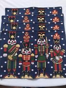 Set 4 Nutcracker Tapestry Placemats Cotton Backed Christmas Holiday 18x13