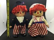 Vintage Raggedy Ann And Andy Coin Bank Dolls 1974