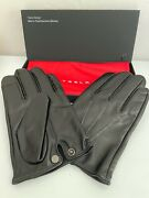 Tesla Men's Leather Gloves Large Touch Screen Black New In Box