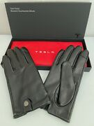 Tesla Women's Leather Gloves Medium Touch Screen Black New In Box