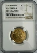 France 1787a Gold Coin 1 Louis Land039or Ngc Certified Unc Details Investment Quality