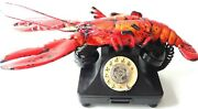 Telephone Bakelite 1938 1940 Rotary Usa Red Lobster Very Old Rare Collectible