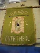Original Wwi Us Army Over There Son In Service Window Flag Banner