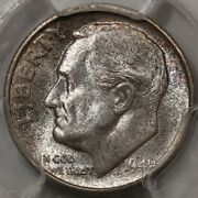 1949-s Roosevelt Dime Pcgs Ms-66 Qa Stickered - Lots Of Colorful Rosies At Rrc