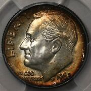 1962-d Roosevelt Dime Pcgs Ms-65 - Lots Of Colorful Rosies At Rrc