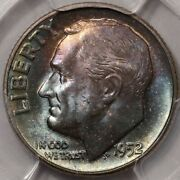 1952 Roosevelt Dime Pcgs Ms-65 - Lots Of Colorful Rosies At Rrc