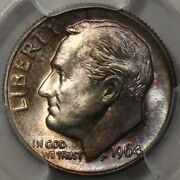 1964 Roosevelt Dime Pcgs Ms-67 - Lots Of Colorful Rosies At Rrc