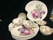 Set Of Royal Staffordshire Ceramics By Clarice Cliff Snack Plates And Cups.