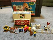 Vtg Fisher-price Little People 915 Play Family Farm W/box
