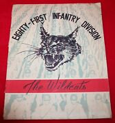 81st Infantry Wildcat Division 1944 Yearbook Style Book World War Ii Ww2 Us Army