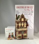 Dept 56 Lot Of 2 Atwater's Coffee House + Holiday Coffee Break Cic Department 56