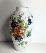 """Rossini Art Glass Vase 12"""" Imported From Italy Hand Made And Painted"""