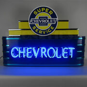 Art Deco Marquee Chevrolet Neon Sign 9adchv W/ Free Shipping