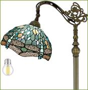 Floor Lamp Dragonfly 64tall Led Industrial Pole Vintage Boho Stained