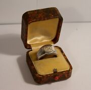 Ww1 Trench Art Ring Silver Having Crossed Cannons 1918 U.s. Angouleme