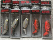 5 Rapala Jointed Shad Raps Jsr-4 1.5andrdquo 3/16oz Dives 4-6andrsquo Good Colors Llf