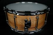 Solid Shell 6.5 X 15 Quarter Sawn Sycamore Snare Drum With Dunnett R Throw Off