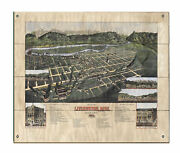 Livingston Old Montana Map Art On Wood/metal Great Vintage Wall Decor And Gift