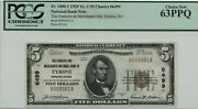1929 5 Type Farmers And Merchant Bank Of Tyrone Pa National Serial 000001 Ms63
