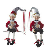 Raz Imports Collectible Posable Elves Christmas In The Village 2 Assorted 30 In