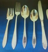 Stieff Lady Claire Sterling Flatware Set For 4 With Five Pieces Per Setting 20pc