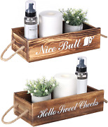 Topmade Bathroom Decor Box,toilet Paper Storage,2 Sides Of Funny Signs Farmhouse