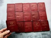 Antique Little Leather Library Corporation Books - New York - Set Of 15