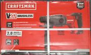 New Craftsman V20 Hammer Drill Cordless Sds + Rotary Tool Only Cmch233b