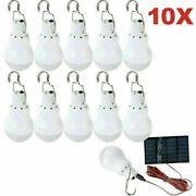 Outdoor 15w Rechargeable Solar Panel Powered Led Bulb Lamp Home Camping Light Us