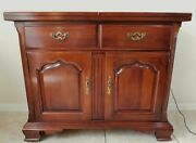 Beautiful Vintage Thomasville Solid Mahogany Rolling Sideboard Server Buffet