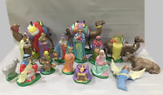 Holland Mold 17 Pc Christmas Nativity Modern Update Embellished Pearl Paint