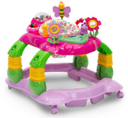 Baby Walker Lilandrsquo Play Station 3-in-1 Activity Walking Aid Pink Floral Garden New