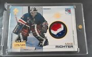 2001 Private Stock Game Used Gear Mike Richter Patch Relic Variation Ny Rangers