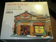 Dept 56 Christmas In The City Harley Davidson Garage 4035565 In Box Used Once