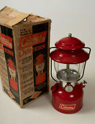 Red Model 200a Coleman Lantern Hse Lamp 1 67 Unfired Single Mantle