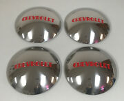 1946-1953 Chevy 3/4 And 1 Ton Truck Hubcaps Set Of 4