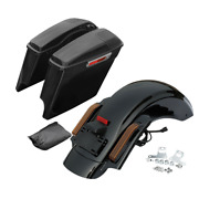 5 Saddlebags 5x7and039and039 Speaker Lid Led Rear Fender Fit For Harley Road King 2014-21