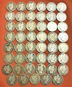 46 Barber Half Coins 1898-s To 1915-s Donsco Album Coin 1915-p Is Not Included